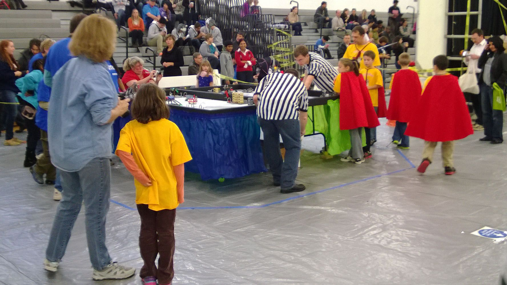 An FLL competition takes place.